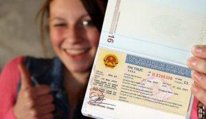 Mẫu visa Việt Nam
