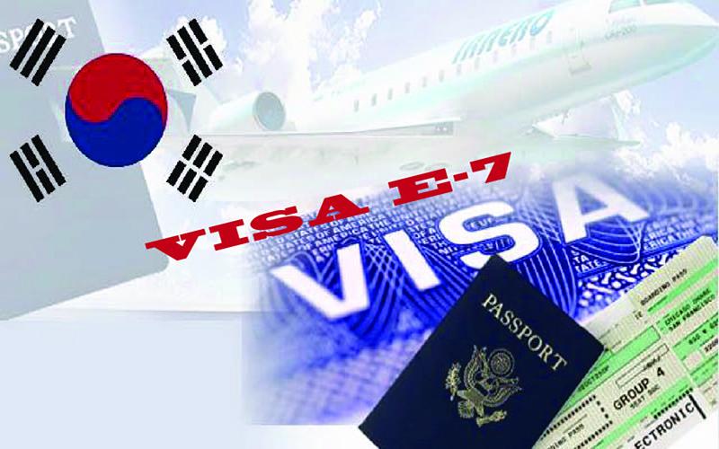 xin visa e7 hàn quốc